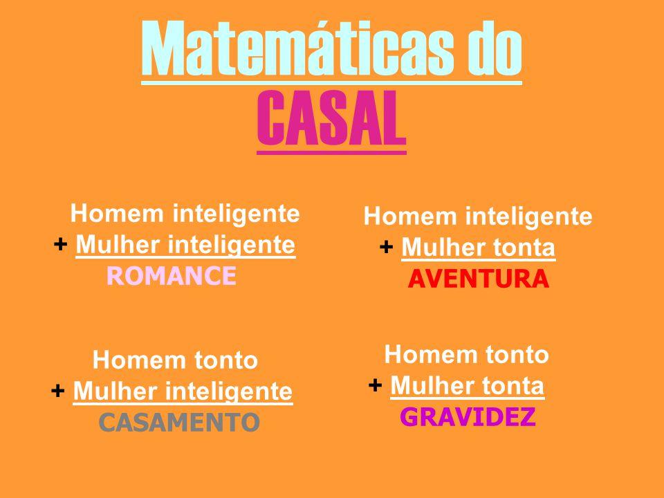 Matemáticas do CASAL Homem inteligente Homem inteligente