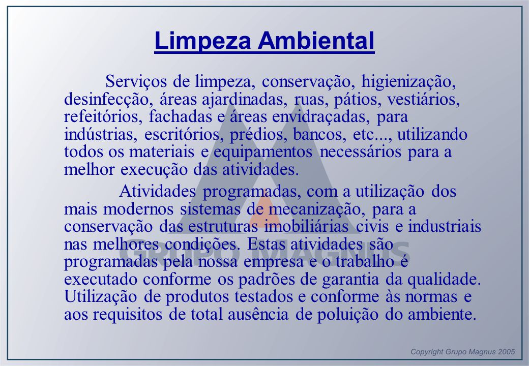 Limpeza Ambiental