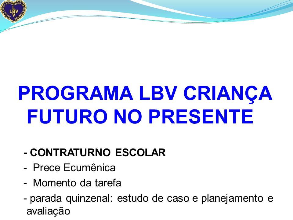 PROGRAMA LBV CRIANÇA FUTURO NO PRESENTE