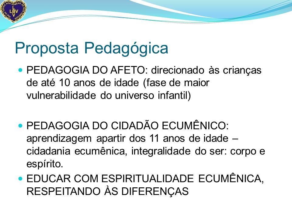 Proposta Pedagógica PEDAGOGIA DO AFETO: direcionado às crianças de até 10 anos de idade (fase de maior vulnerabilidade do universo infantil)