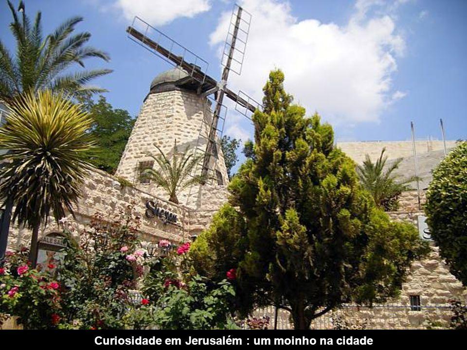 Curiosidade em Jerusalém : um moinho na cidade