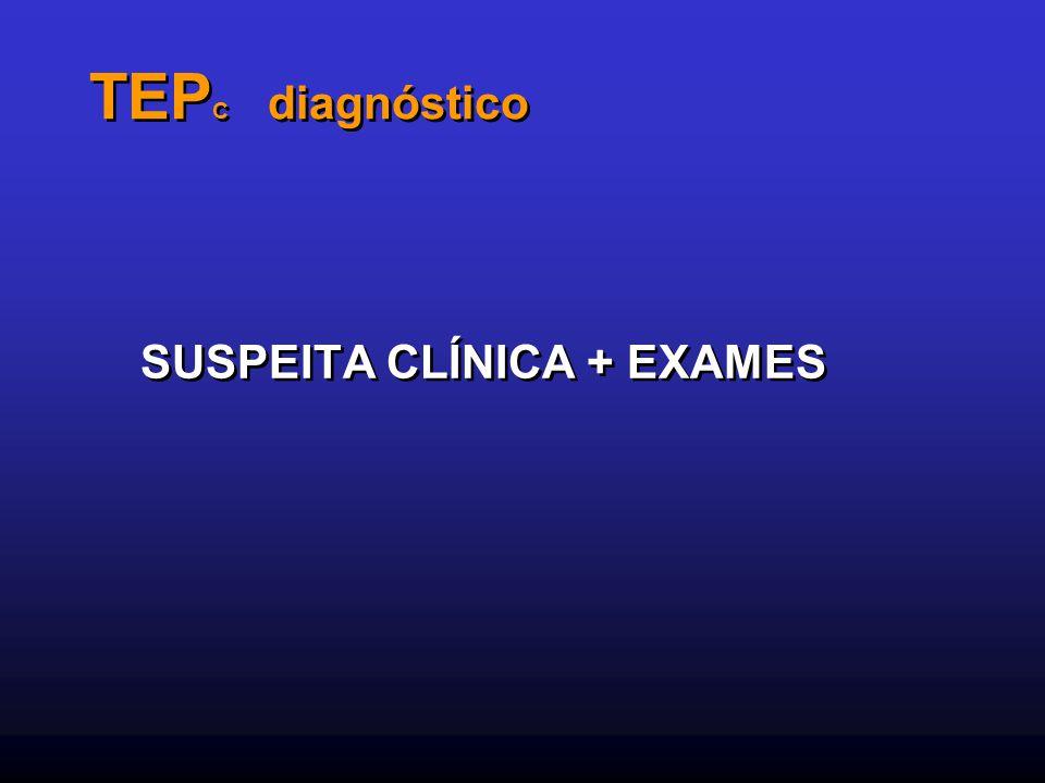 TEPC diagnóstico SUSPEITA CLÍNICA + EXAMES