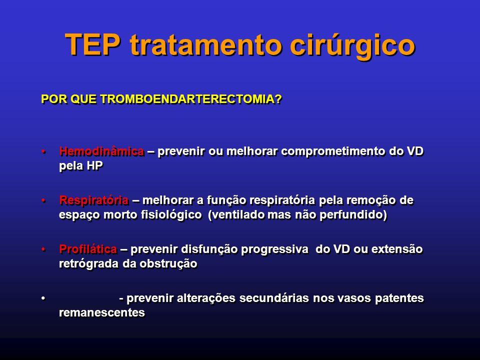 TEP tratamento cirúrgico