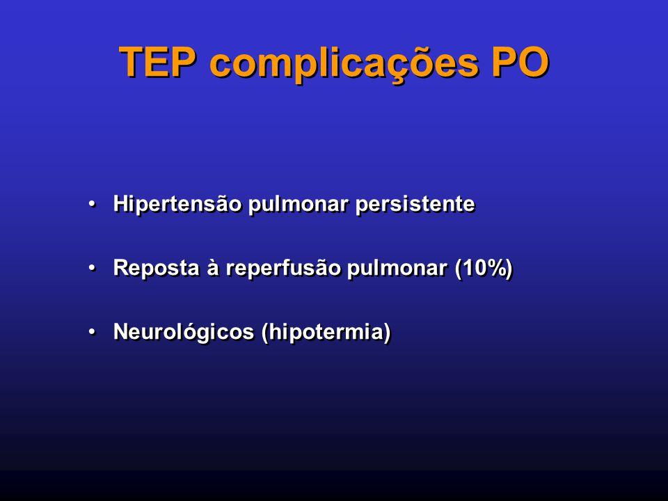 TEP complicações PO Hipertensão pulmonar persistente