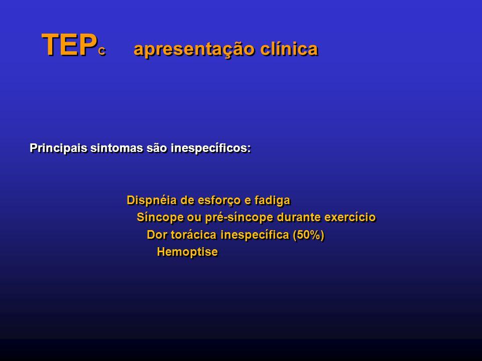TEPC apresentação clínica