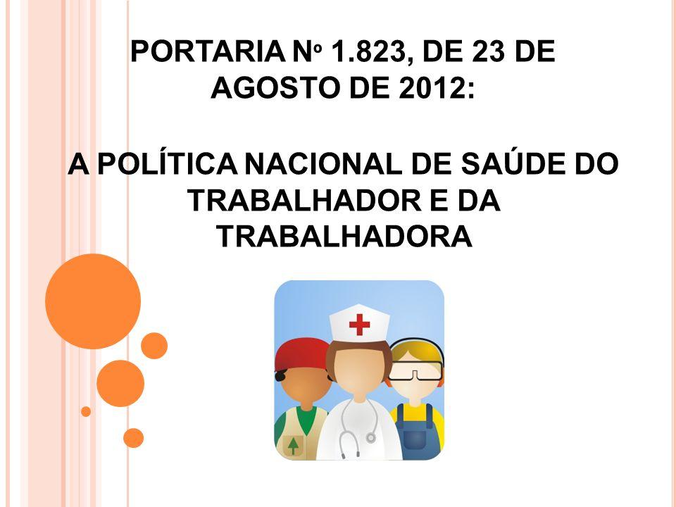 PORTARIA Nº 1. 823, DE 23 DE AGOSTO DE 2012 PORTARIA Nº 1