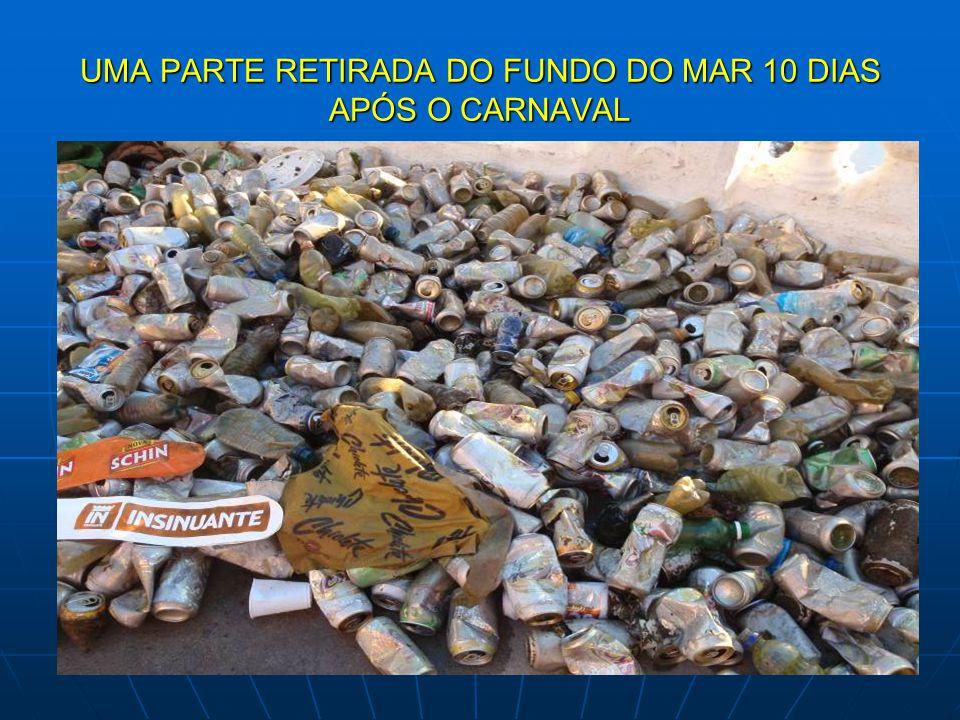 UMA PARTE RETIRADA DO FUNDO DO MAR 10 DIAS APÓS O CARNAVAL