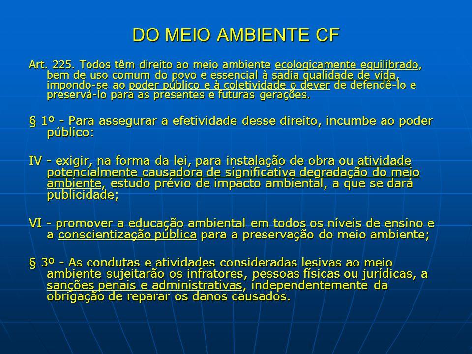 DO MEIO AMBIENTE CF