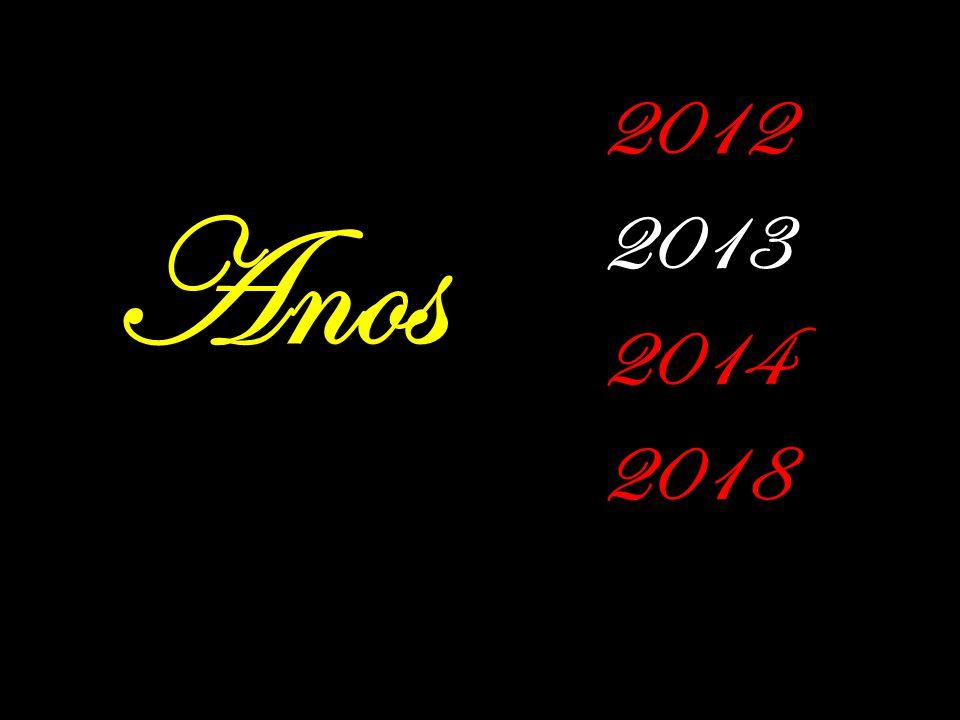 2012 2013 2014 2018 Anos