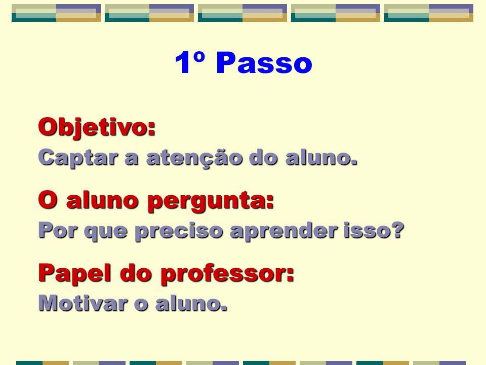 1º Passo Objetivo: Captar a atenção do aluno.