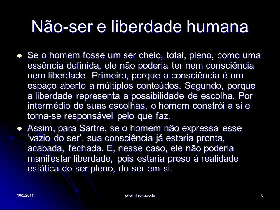 Não-ser e liberdade humana
