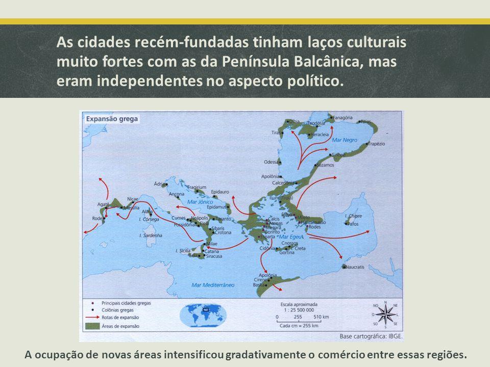 As cidades recém-fundadas tinham laços culturais muito fortes com as da Península Balcânica, mas eram independentes no aspecto político.
