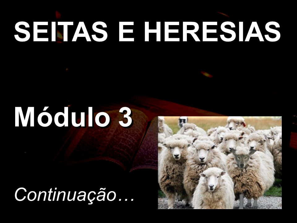 SEITAS E HERESIAS Módulo 3 Continuação…