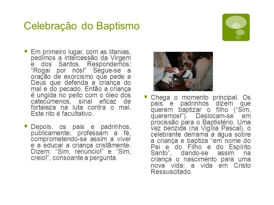 Celebração do Baptismo