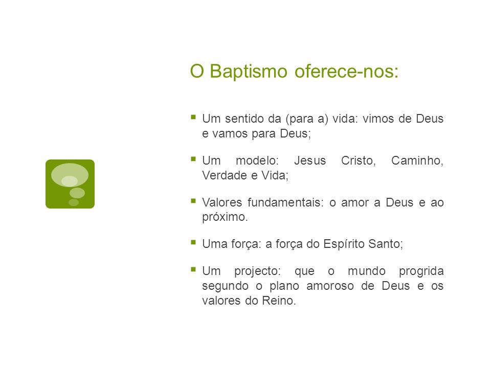 O Baptismo oferece-nos: