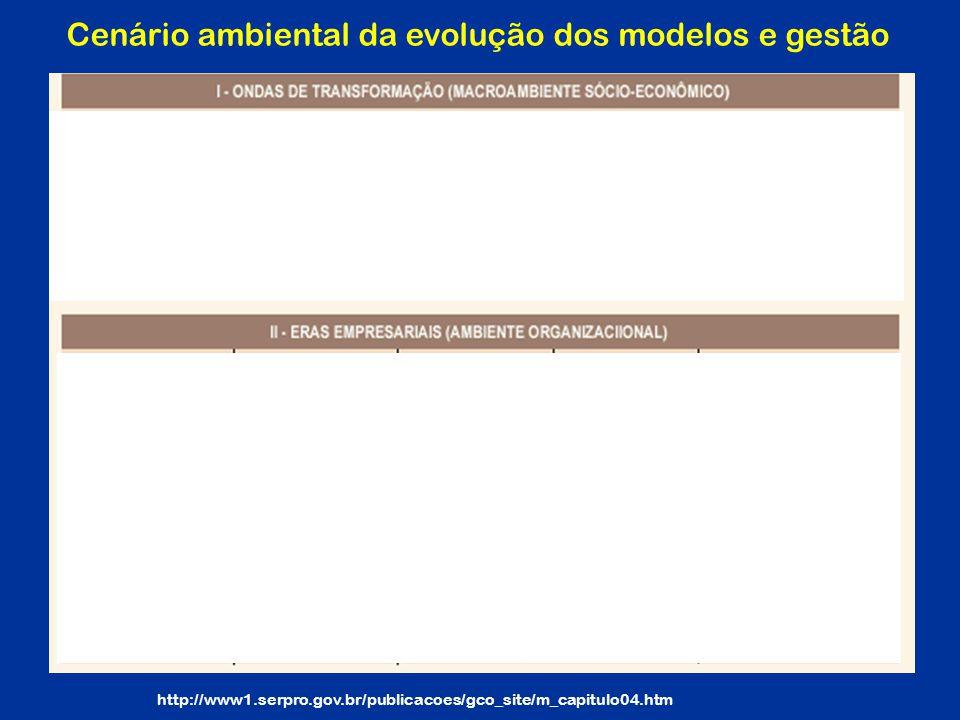 Cenário ambiental da evolução dos modelos e gestão
