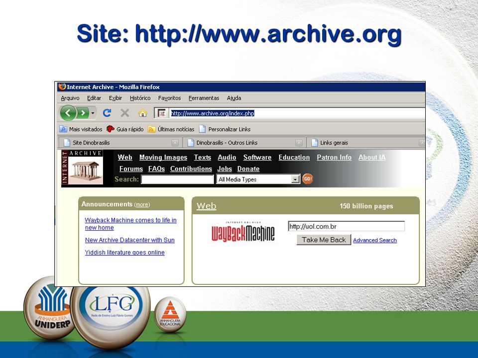 Site: http://www.archive.org