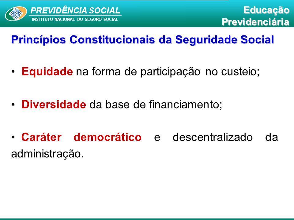 Princípios Constitucionais da Seguridade Social