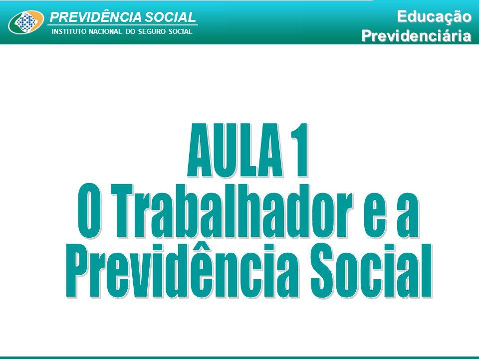 AULA 1 O Trabalhador e a Previdência Social