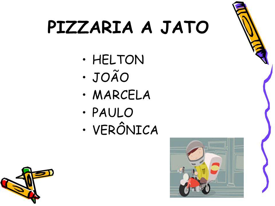 PIZZARIA A JATO HELTON JOÃO MARCELA PAULO VERÔNICA