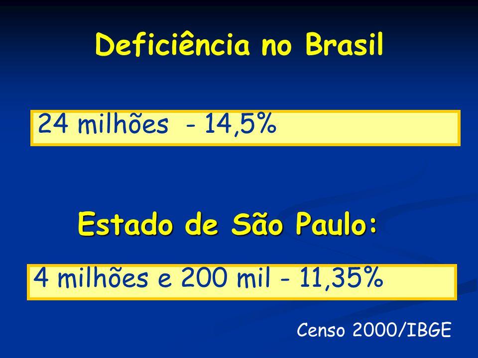 Deficiência no Brasil Estado de São Paulo: