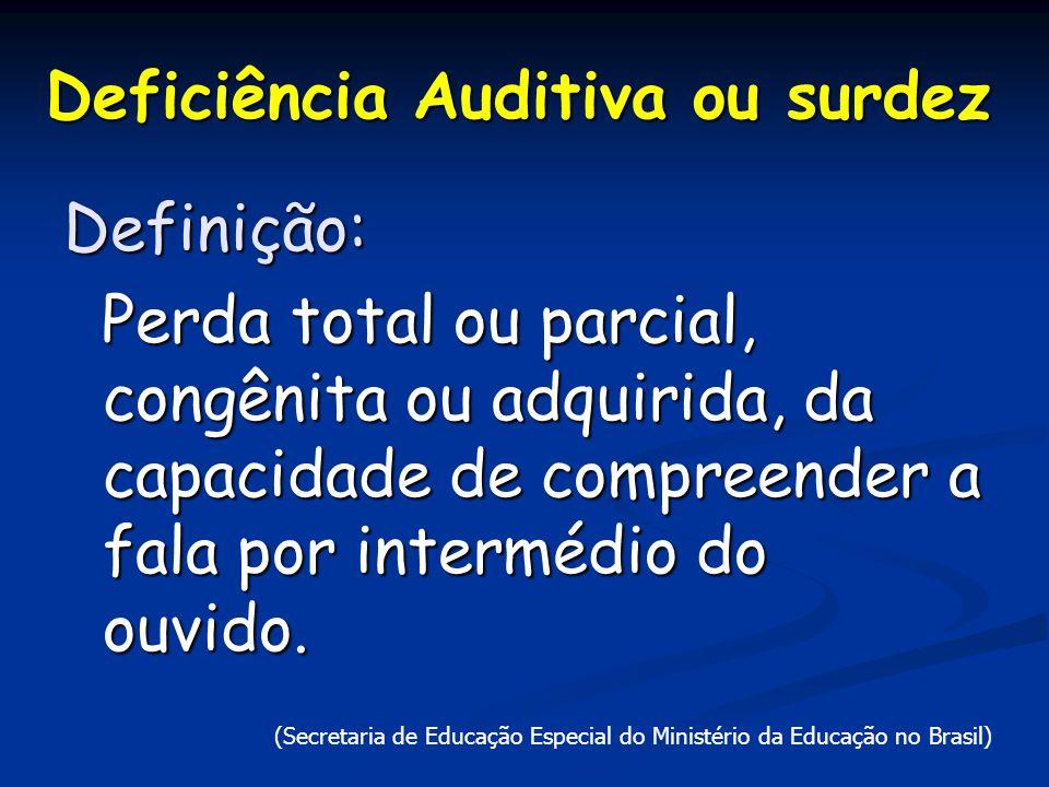 Deficiência Auditiva ou surdez