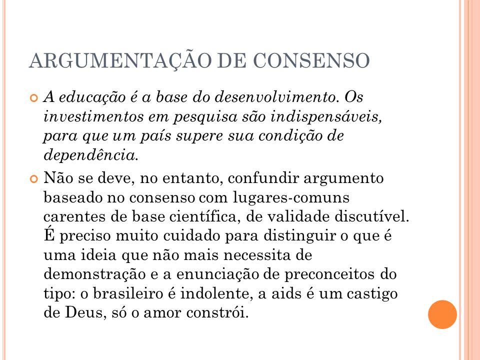 ARGUMENTAÇÃO DE CONSENSO