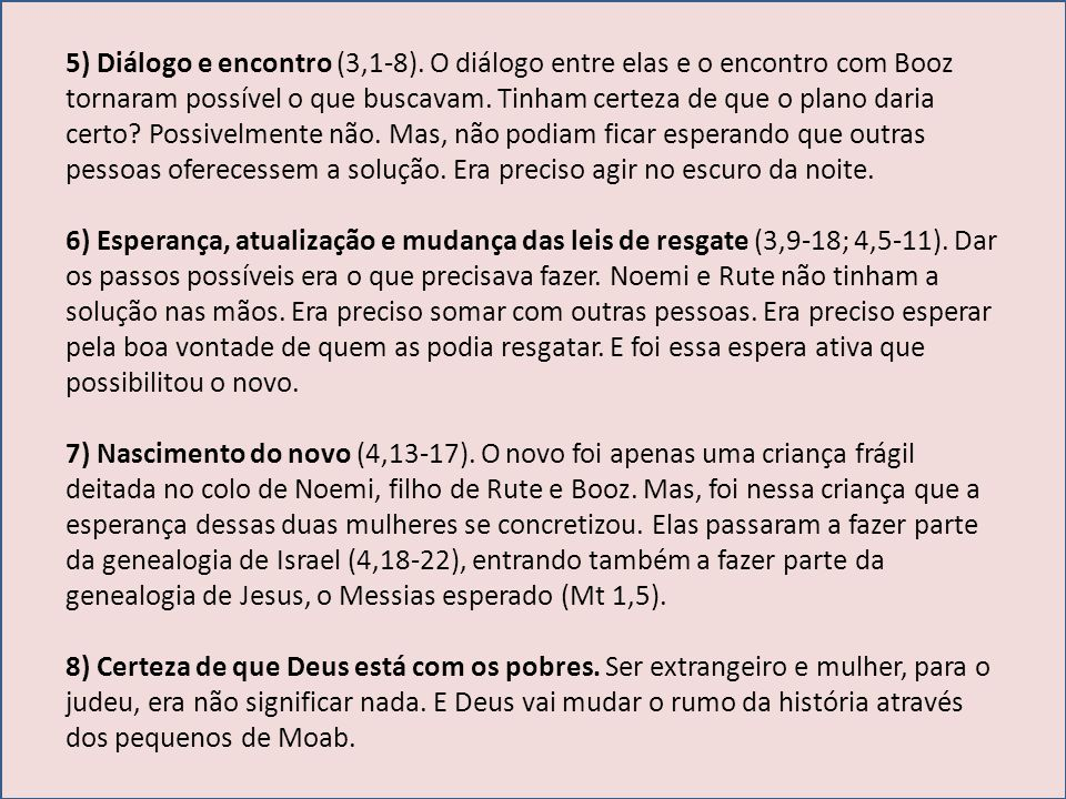 5) Diálogo e encontro (3,1-8)