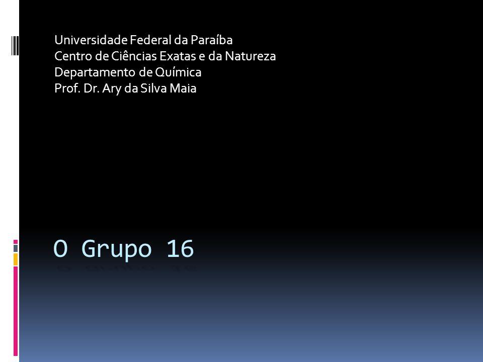 O Grupo 16 Universidade Federal da Paraíba