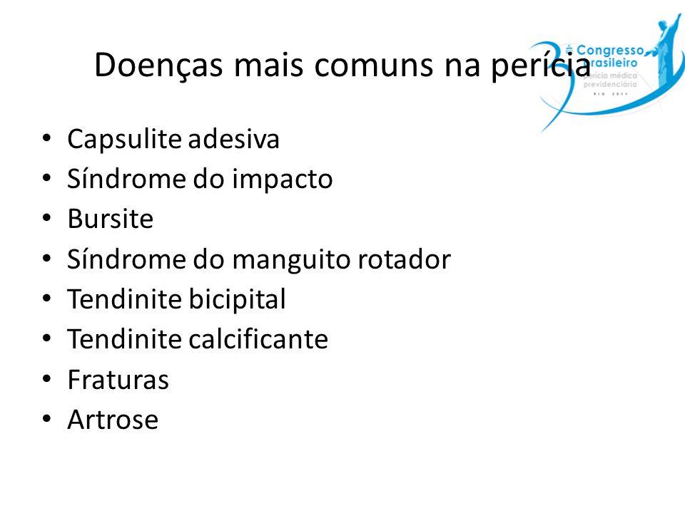 Doenças mais comuns na perícia