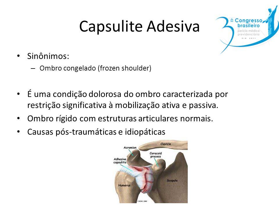 Capsulite Adesiva Sinônimos:
