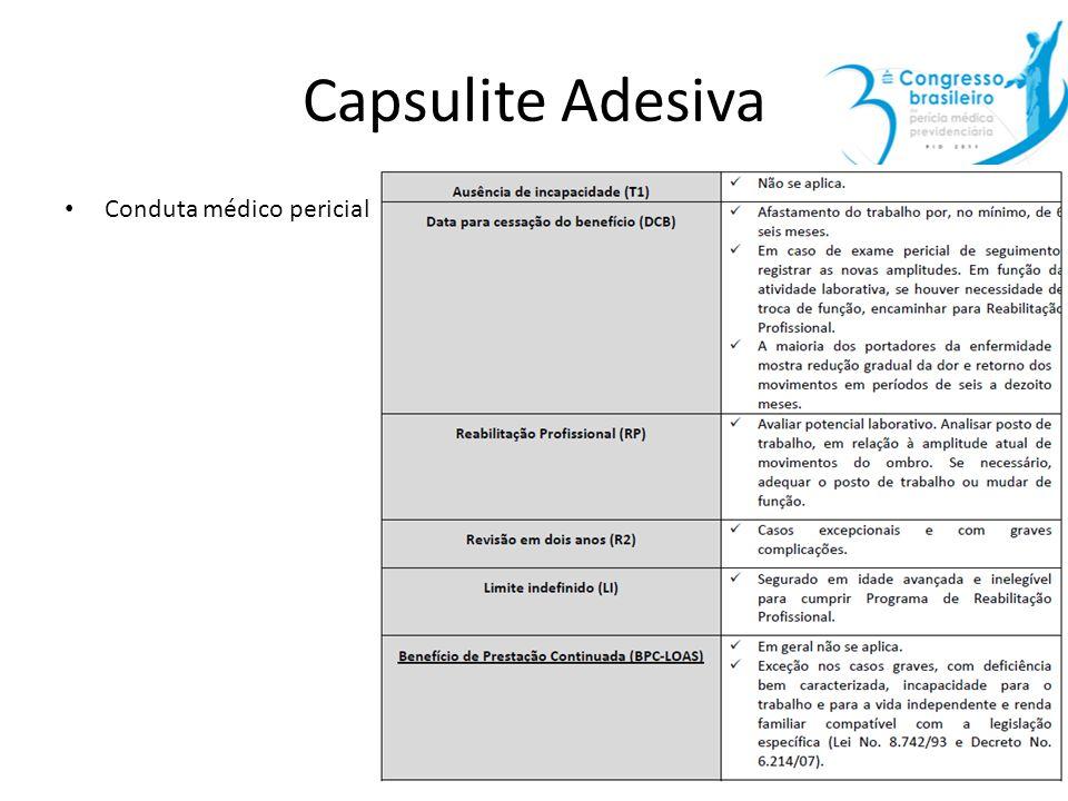 Capsulite Adesiva Conduta médico pericial