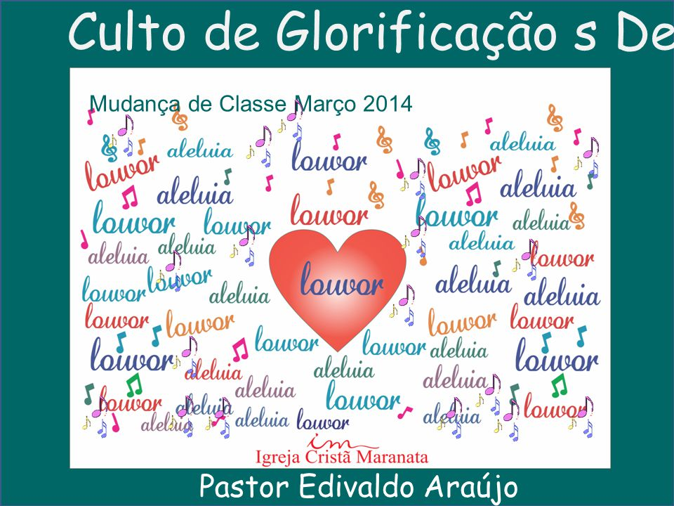 Culto de Glorificação s Deus