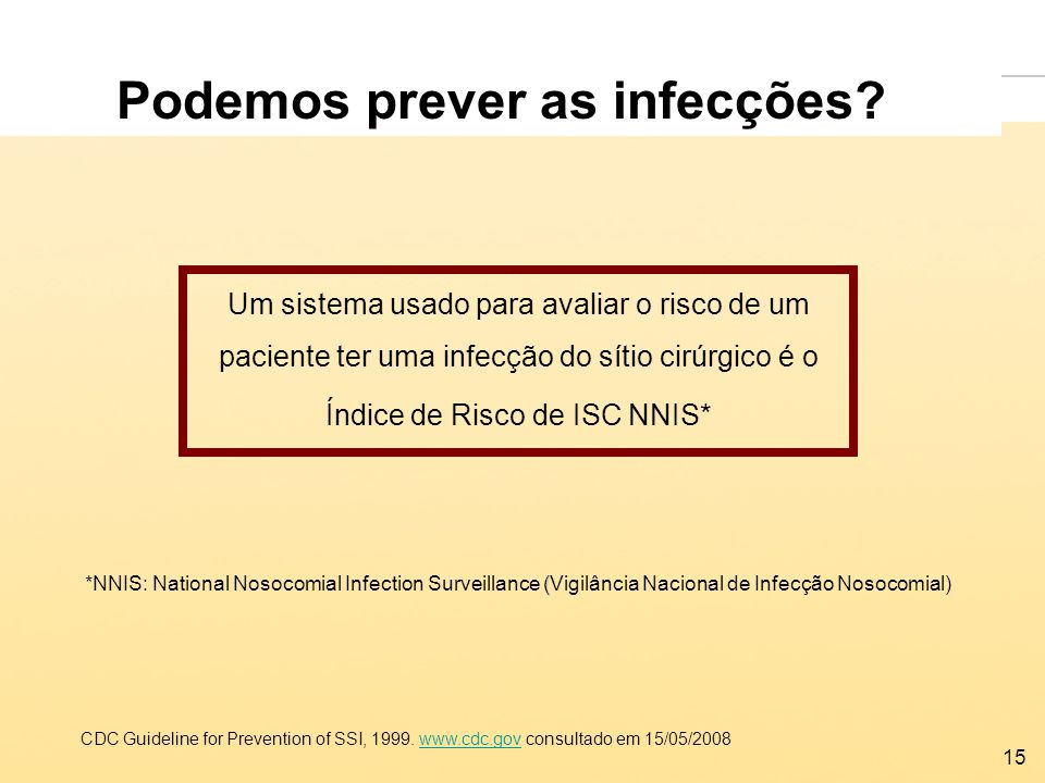 Podemos prever as infecções