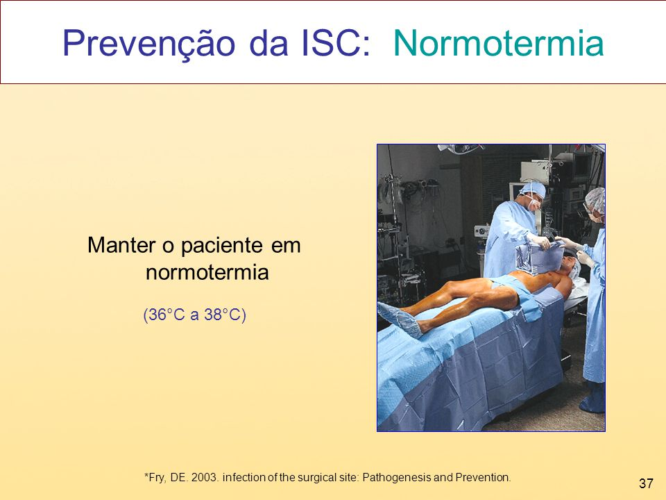Prevenção da ISC: Normotermia