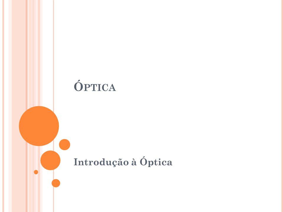 Óptica Introdução à Óptica