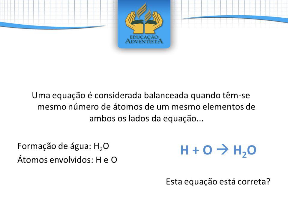 Esta equação está correta