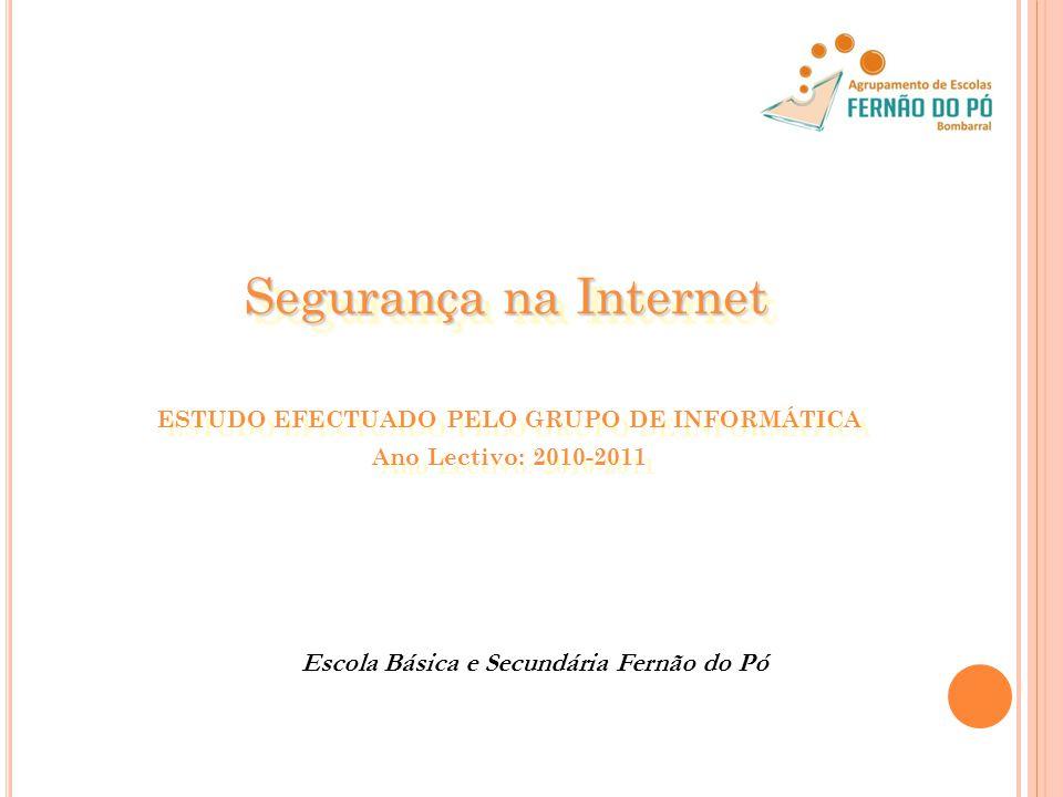 ESTUDO EFECTUADO PELO GRUPO DE INFORMÁTICA Ano Lectivo: 2010-2011