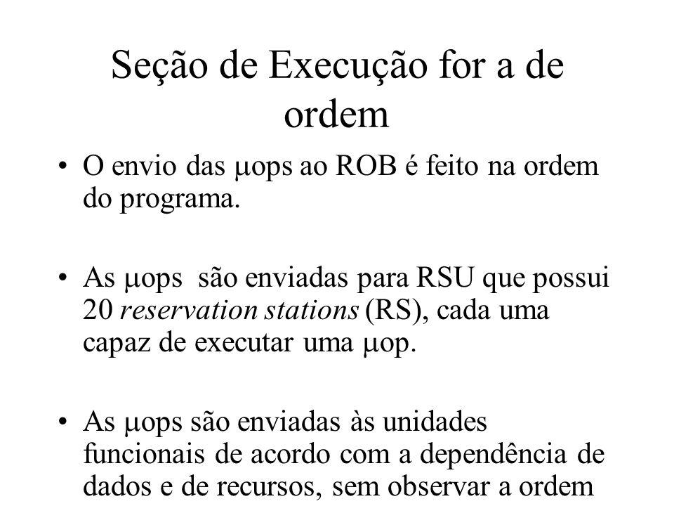 Seção de Execução for a de ordem