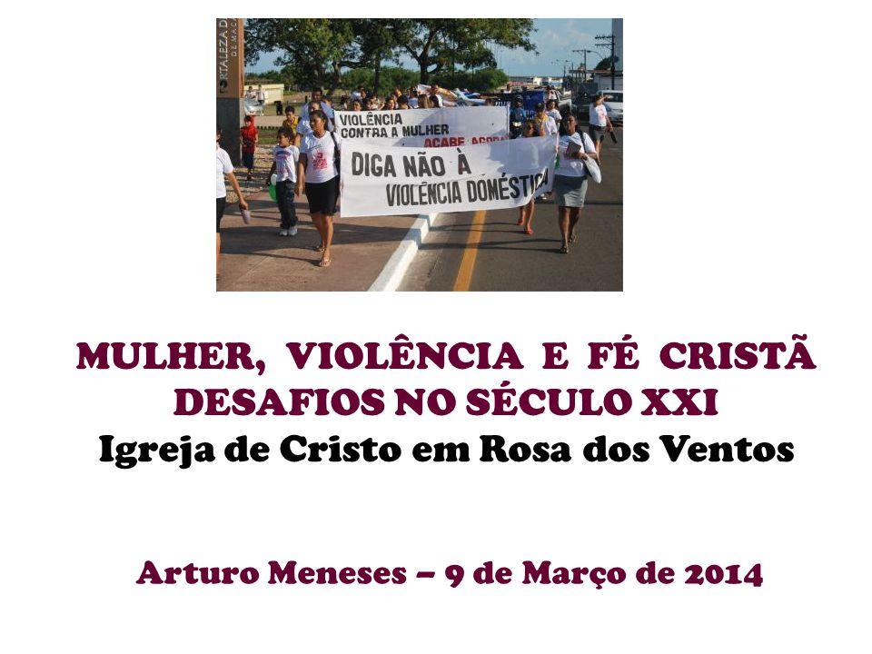 MULHER, VIOLÊNCIA E FÉ CRISTÃ DESAFIOS NO SÉCULO XXI