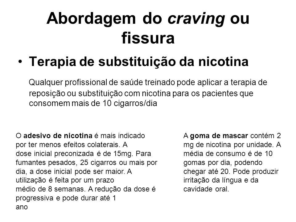 Abordagem do craving ou fissura