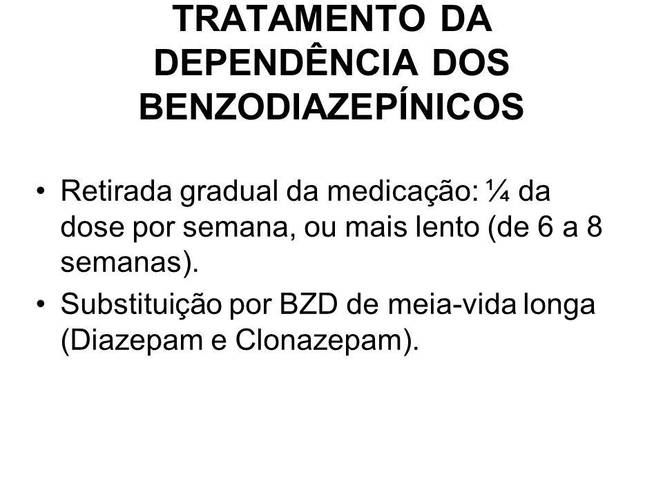 TRATAMENTO DA DEPENDÊNCIA DOS BENZODIAZEPÍNICOS