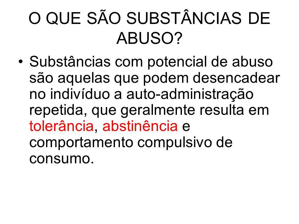 O QUE SÃO SUBSTÂNCIAS DE ABUSO
