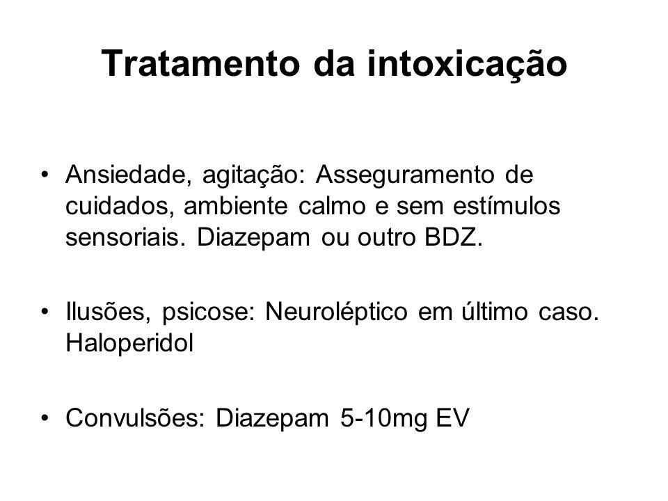 Tratamento da intoxicação