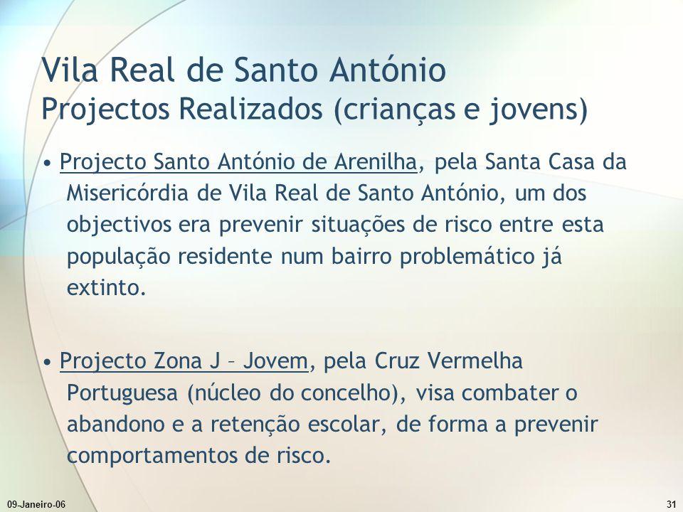 Vila Real de Santo António Projectos Realizados (crianças e jovens)