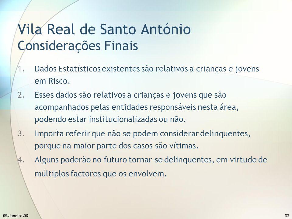 Vila Real de Santo António Considerações Finais
