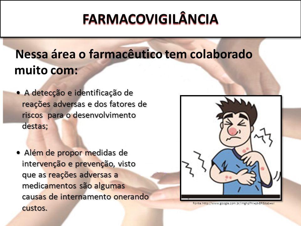 FARMACOVIGILÂNCIA Nessa área o farmacêutico tem colaborado muito com: