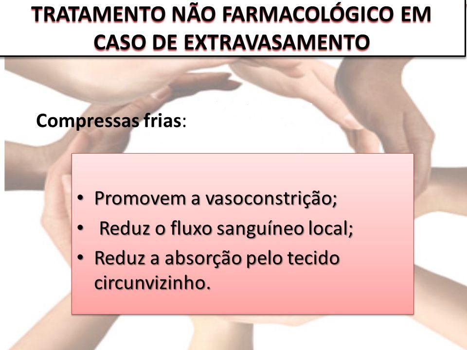 TRATAMENTO NÃO FARMACOLÓGICO EM CASO DE EXTRAVASAMENTO