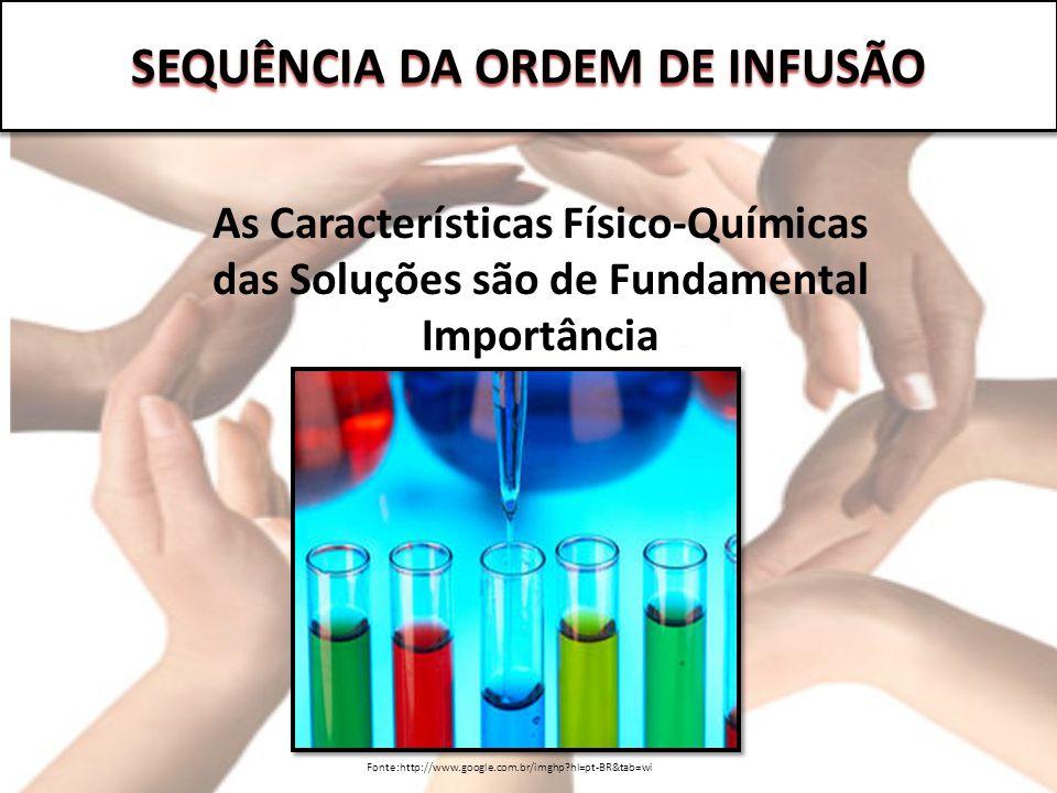 SEQUÊNCIA DA ORDEM DE INFUSÃO