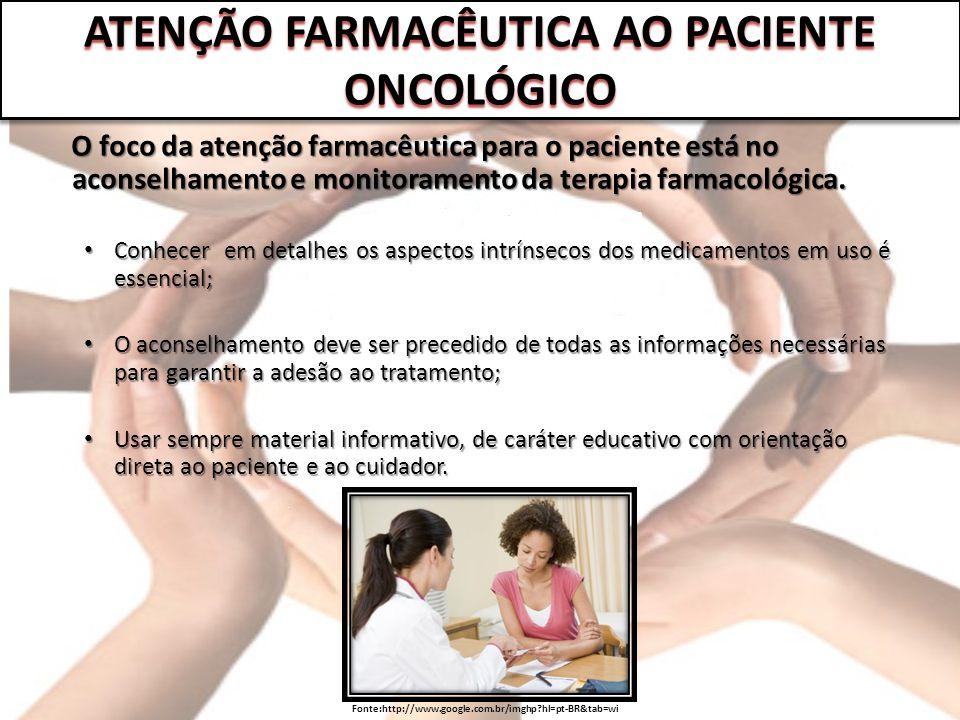 ATENÇÃO FARMACÊUTICA AO PACIENTE ONCOLÓGICO